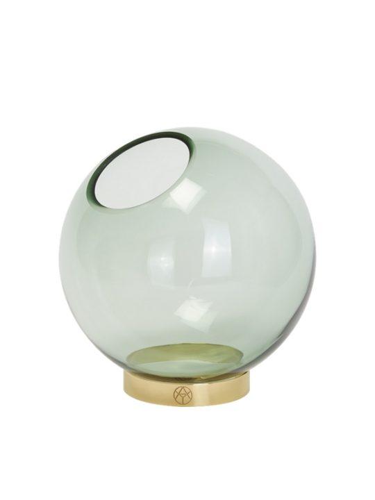 AYTM Globe Vase Medium Grøn og Messing