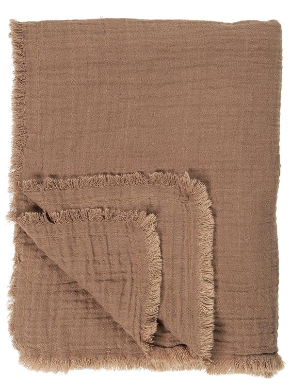 Ib Laursen - Dobbeltvævet plaid - Rustic Brown