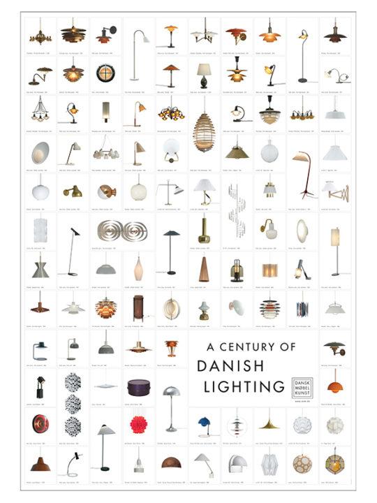 Dansk Møbelkunst - Poster - A Century of Danish Lightning