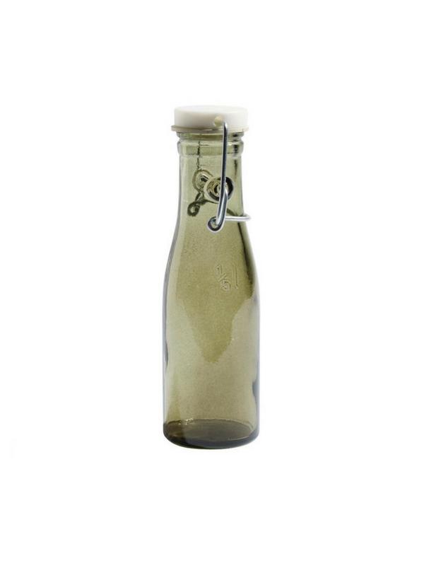 glasflaske med låg