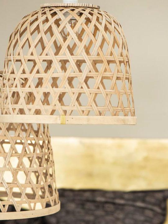 Ib Laursen - Hængelampe - Bambus - Ø: 34 cm. H: 29 cm.