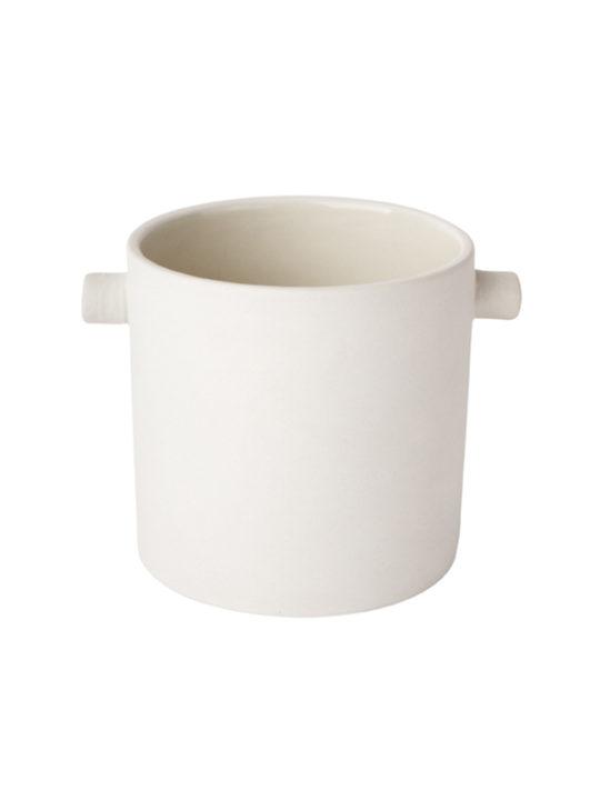 ZAKKIA Handle Pot - hvid