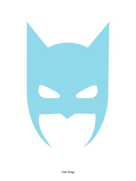 Calm Design Plakat - Batman - lyseblå - A3