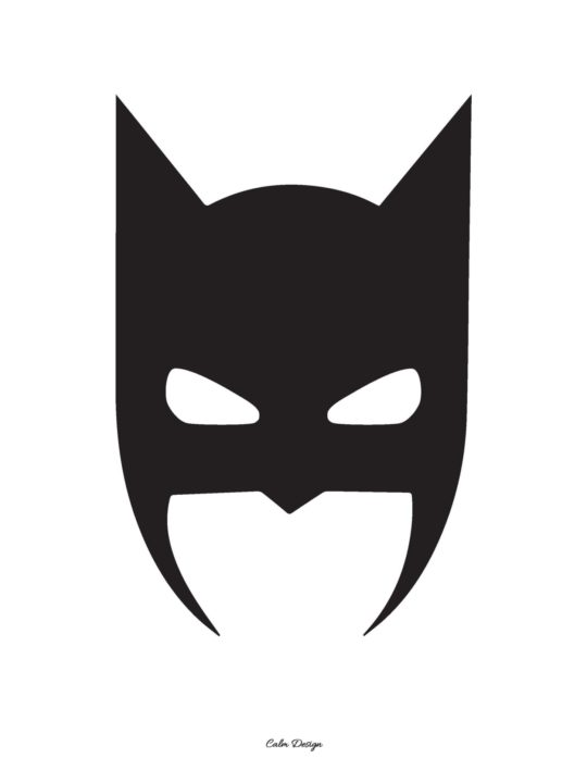 Calm Design Plakat - Batman - sort - A3