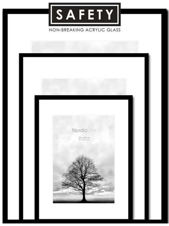 Incado - Nordic Line - Slim Black Safety - 50x70 cm