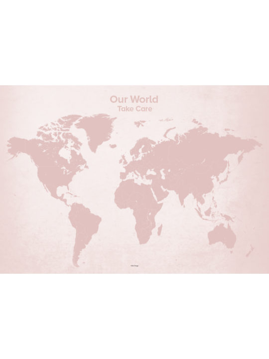 Calm Design Plakat - Our World - rosa - 100x70 cm