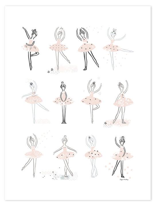 Lilipinso Plakat - Ballerinas - 60x80 cm.