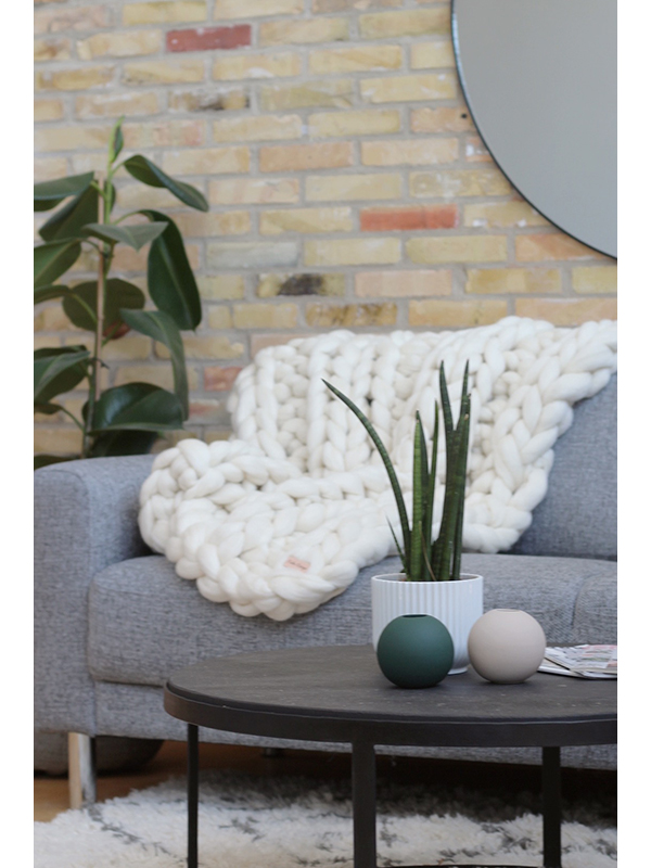 Calm Design Chunky Plaid Rib - Creme - 90 x 125 cm