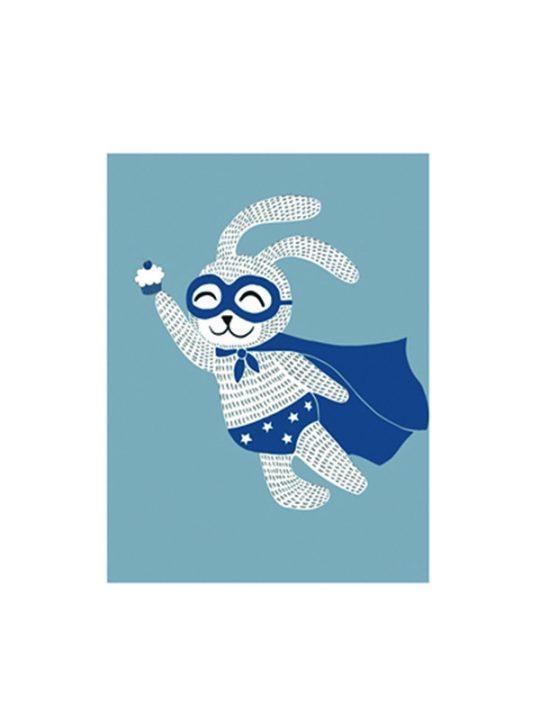 Bloomingville Mini - Plakat - Super Hero - 30 x 40 cm