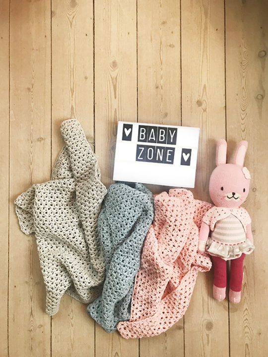 Calm Design Baby plaid - Grå - 100% bomuld
