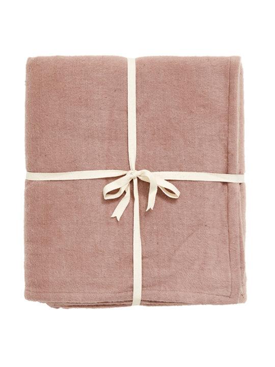 Nordal Yoga-tæppe i bomuld - 150x200 cm - rosa