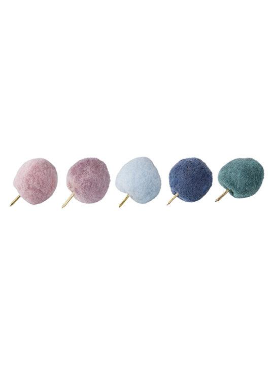 Bloomingville - Tegnestifter med pom pom´er i flere farver - sæt á 10 stk.
