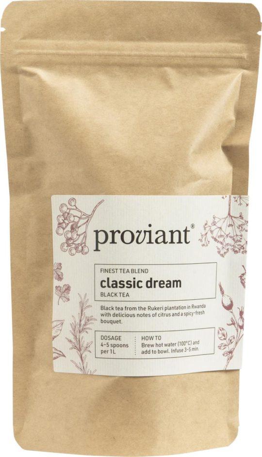 Proviant - Te - Classic Dream - Sort te i pose - 75 gr.