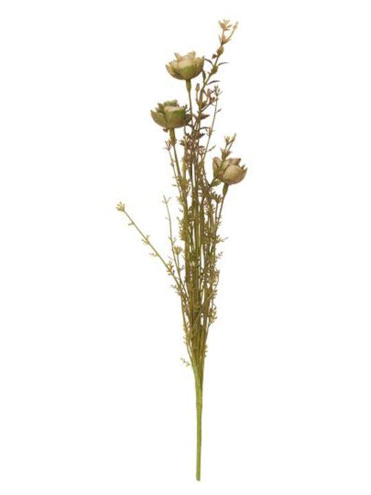 Ib Laursen - Blomster - Nyde og grønne nuancer - Plastik - 50 cm.