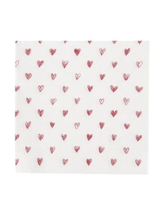 Ib Laursen – servietter – hjerter – 33 x 33 cm