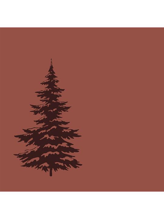Broste Copenhagen - Servietter - Juletræ - Rødbrun