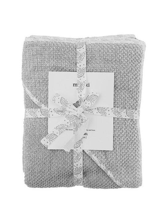 Meraki Mini - Baby-håndklæde - Grå - 80 x 80 cm.