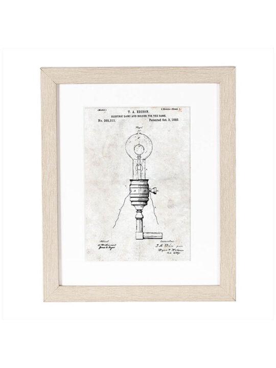 Incado - Patent - Lampe - 20 x 25 cm inkl. ramme