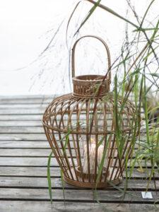 Ib Laursen - lanterne med bambusflet og glasindsats