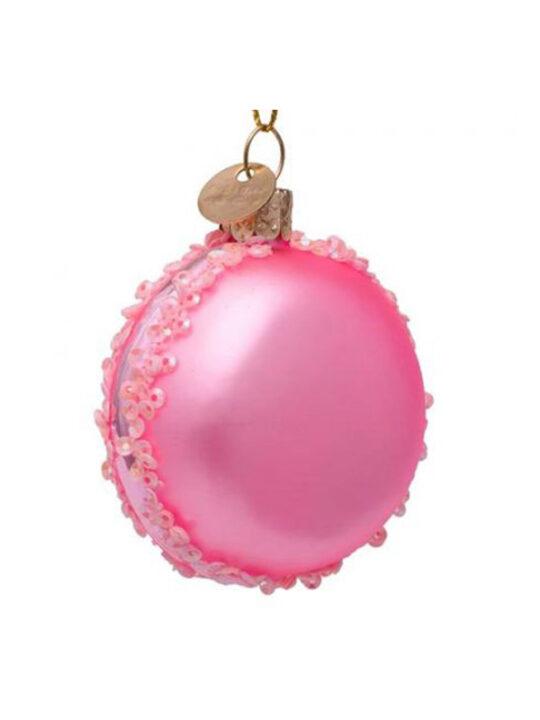 Vondels - Juletræspynt - Macaron - Shiny pink - Mundblæst glas