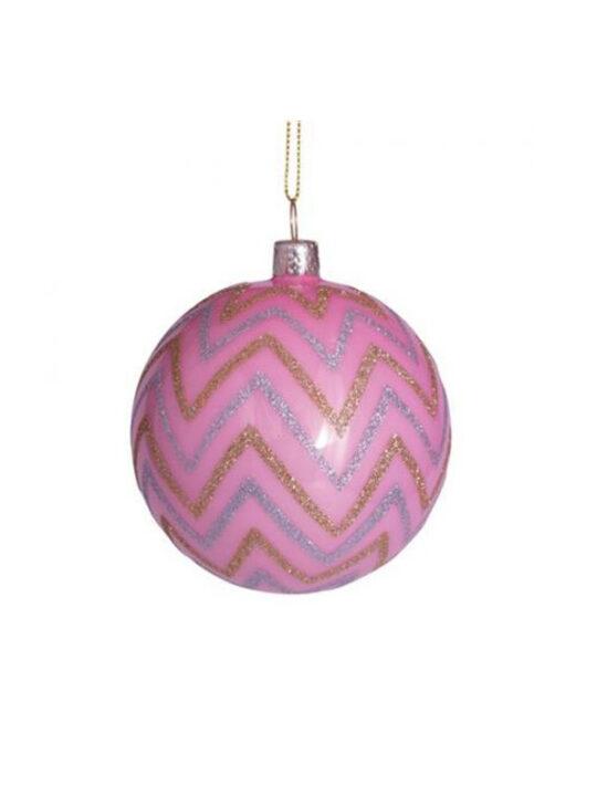 Vondels - Juletræspynt - Julekugle - Pink - Mundblæst glasVondels - Juletræspynt - Julekugle - Pink - Mundblæst glas