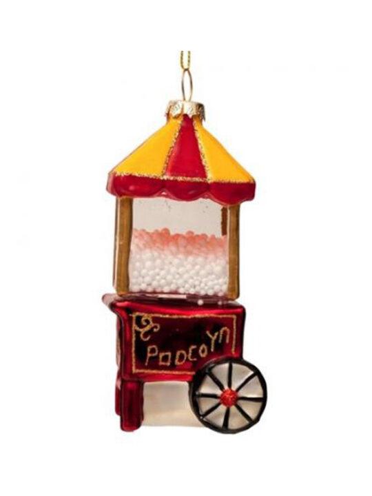 Vondels - Juletræspynt - Popcorn-maskine - Mundblæst glas