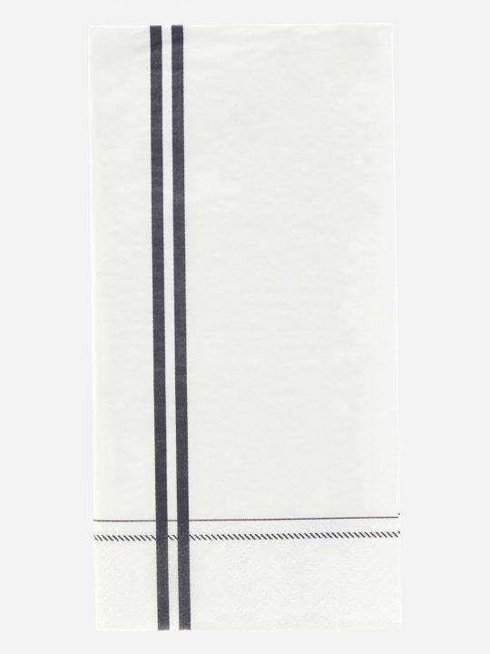 Nicolas Vahé – servietter – Stripe - grå - 10 x 20 cm.