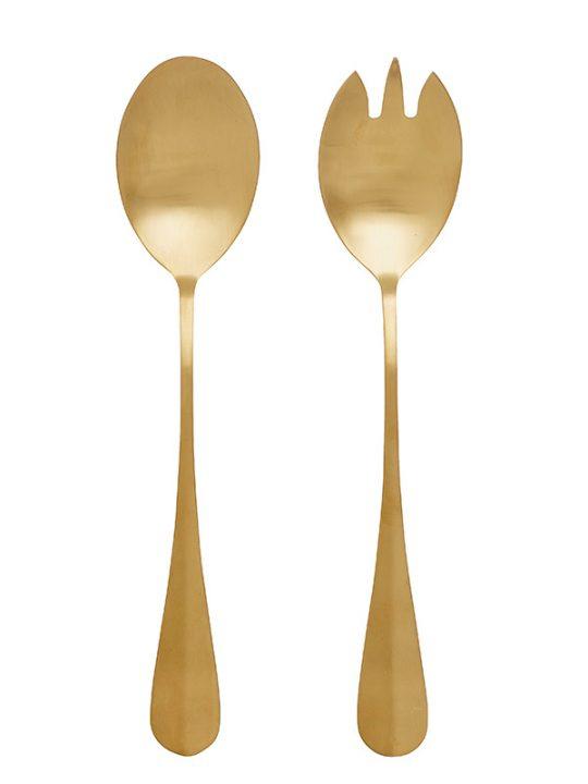 Nordal - Salatbestik - Guld - 2 dele