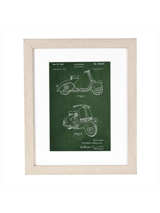 Incado - Patent - Scooter - 20 x 25 cm inkl. ramme