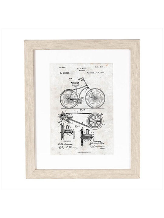 Incado - Patent - Cykel - 21 x 25 cm inkl. ramme