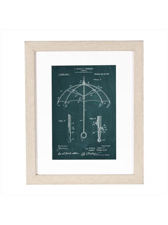 Incado - Patent - Paraply - 20 x 25 cm inkl. ramme