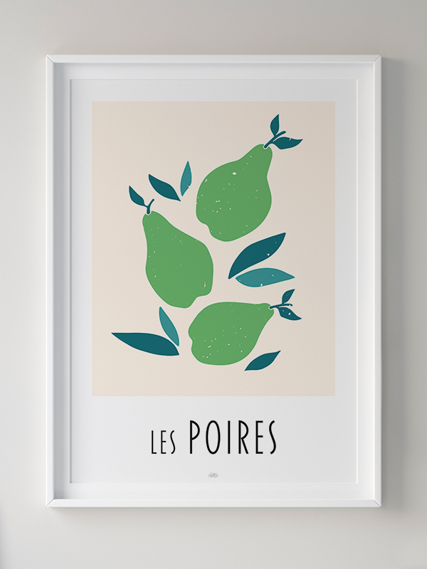Calm Design - plakat - Les Poires - Wasps living