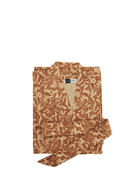 Madam Stoltz - Kimono - Brændt orange - One size