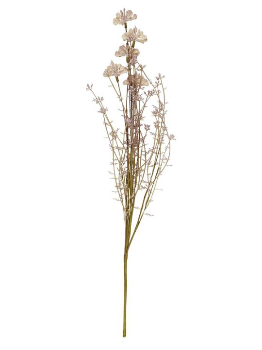 Ib Laursen - Blomster - Malva og grønne nuancer - Plastik - 50 cm.