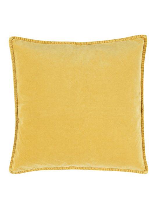Ib Laursen - Pudebetræk - Velour - Lemon gul - 50 x 50 cm