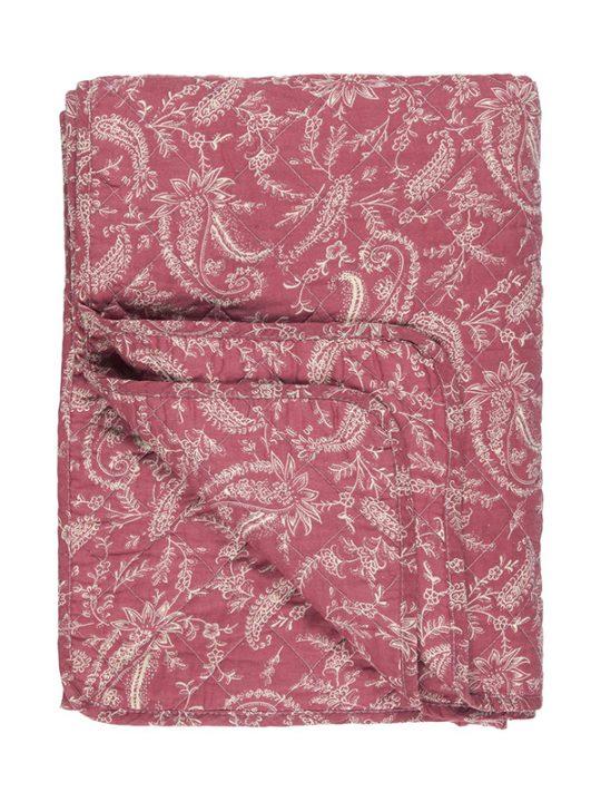 Ib Laursen - Quiltet plaid - Paisley - Støvet pink