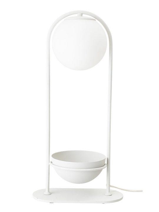 Bloomingville - Bordlampe - Metal - Hvid - H: 52 cm.
