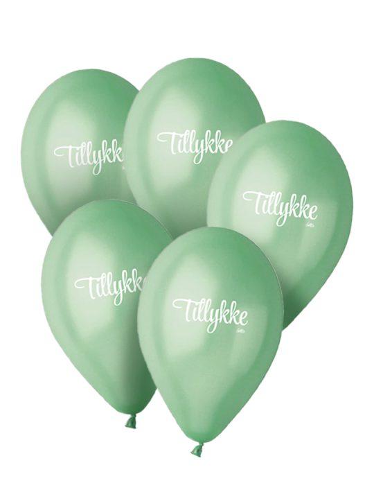 Calm Design – Balloner – Metallic – Aqua – 30 cm. – 5 stk.