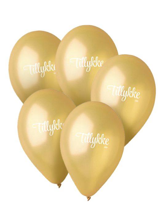 Calm Design - Balloner - Metallic - Guld - 30 cm. - 5 stk.