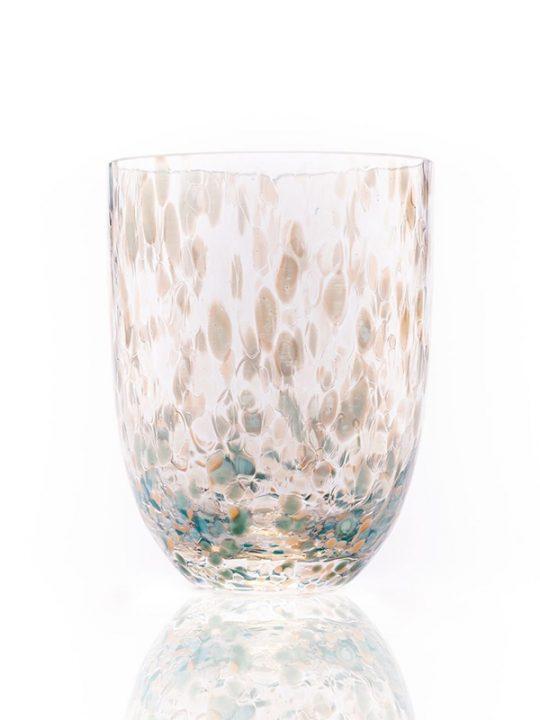Anna von Lipa - Confetti - Krystalglas - Ocean - Lyseblå, sand og Turkis